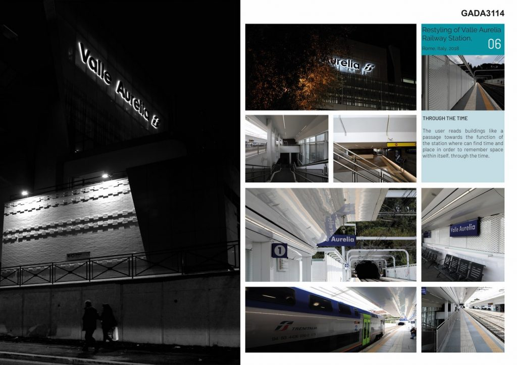 Restyling of Valle Aurelia Railway Station Rome Italy by AMAART - Sheet3