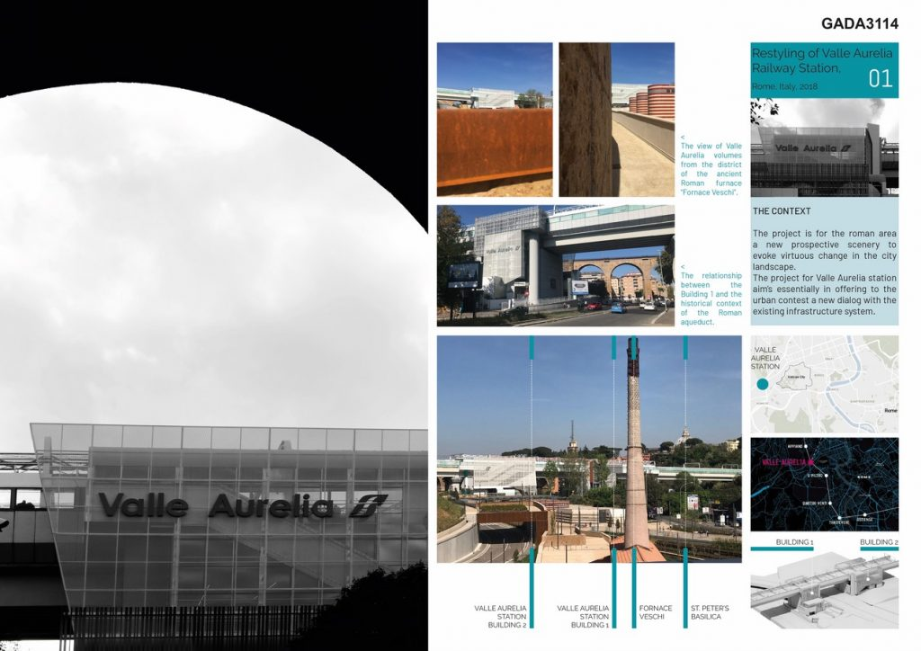Restyling of Valle Aurelia Railway Station Rome Italy by AMAART - Sheet4