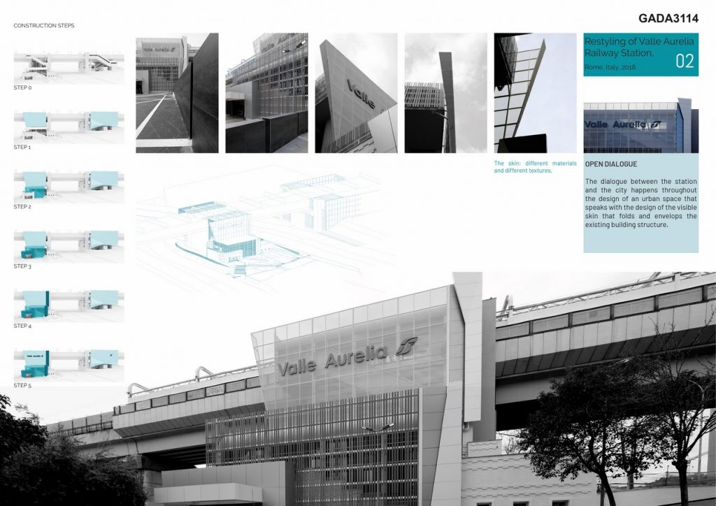 Restyling of Valle Aurelia Railway Station Rome Italy by AMAART - Sheet5