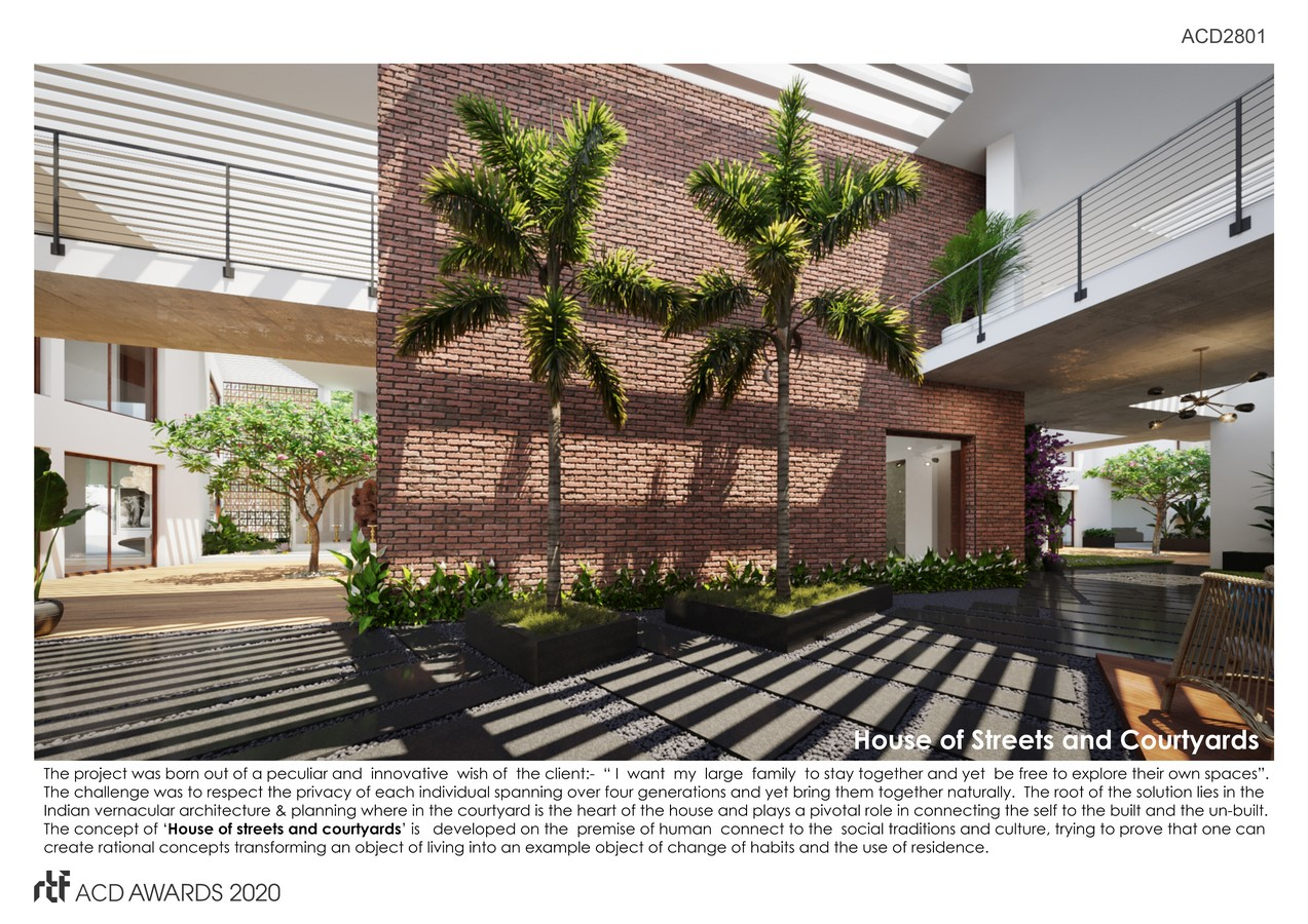 House of streets and Courtyards By Suppose Architecture Studio - SHeet1