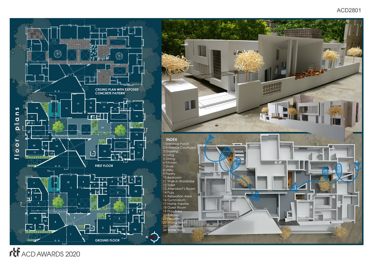 House of streets and Courtyards By Suppose Architecture Studio - SHeet3