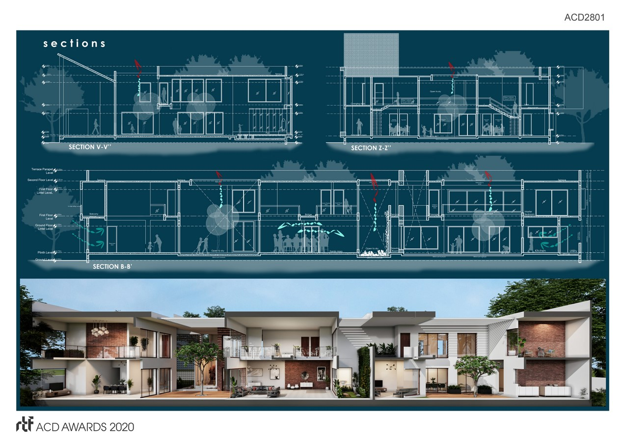 House of streets and Courtyards By Suppose Architecture Studio - SHeet4