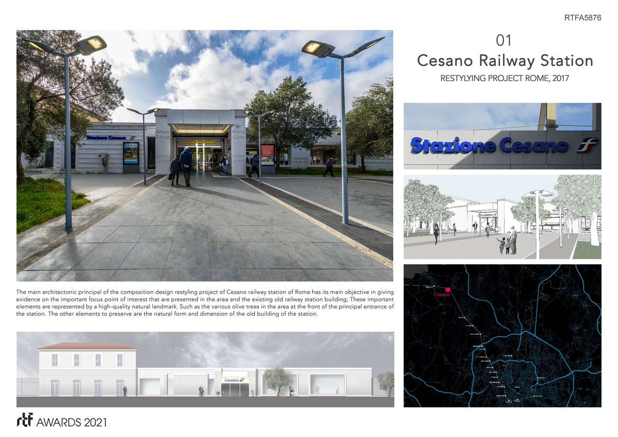 Cesano Railway Station Restyling Project Rome Italy By Alessia Maggio (AMAART Architects) - Sheet3