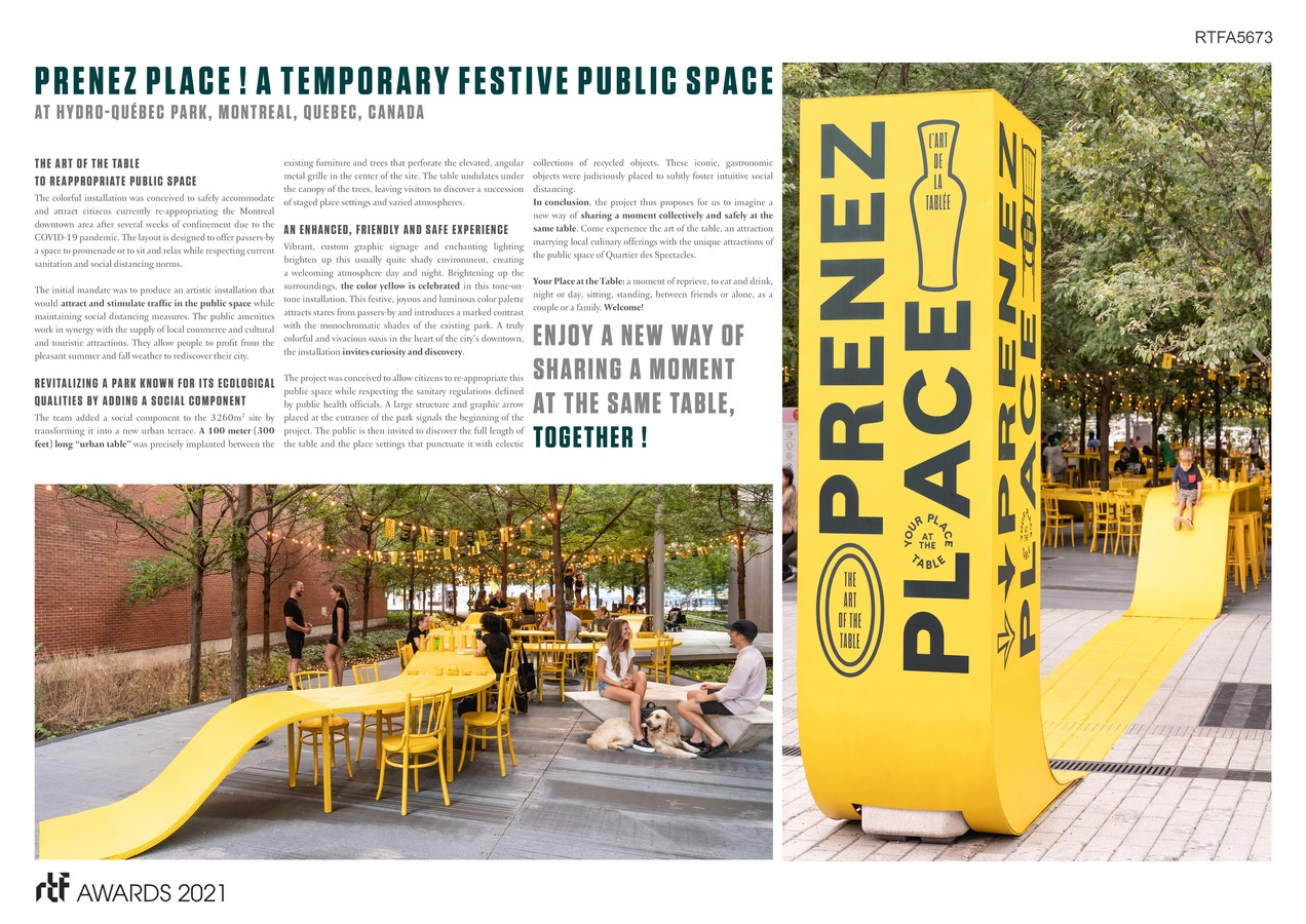 PRENEZ PLACE ! Your Place at the Table By ADHOC Architectes - Sheet1