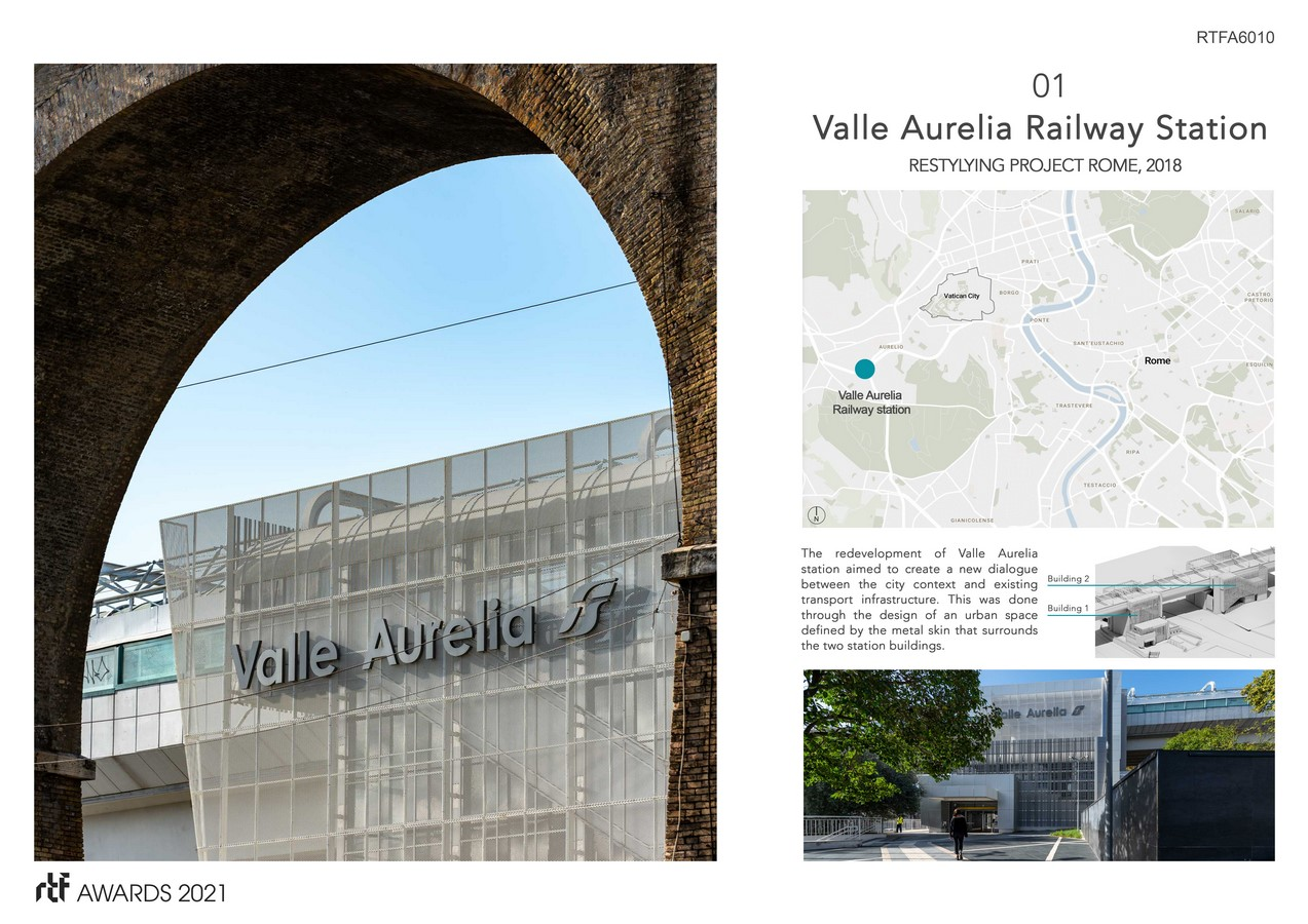 Valle Aurelia Restyling Station Project By Alessia Maggio (AMAART Architects) - Sheet2