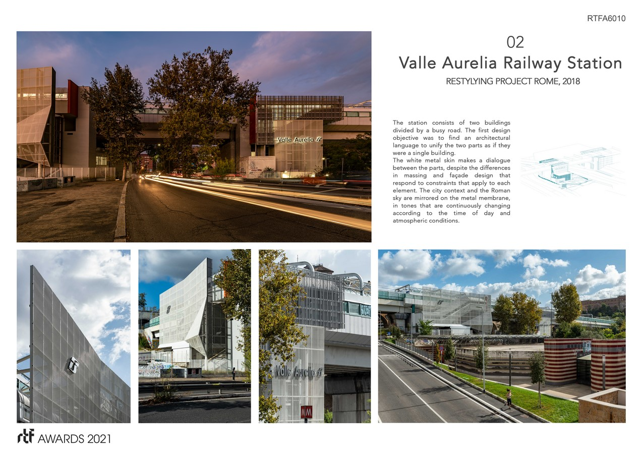 Valle Aurelia Restyling Station Project By Alessia Maggio (AMAART Architects) - Sheet3