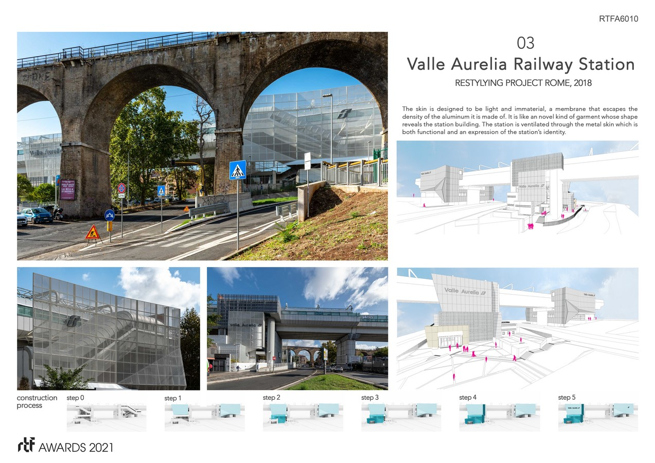 Valle Aurelia Restyling Station Project By Alessia Maggio (AMAART Architects) - Sheet4