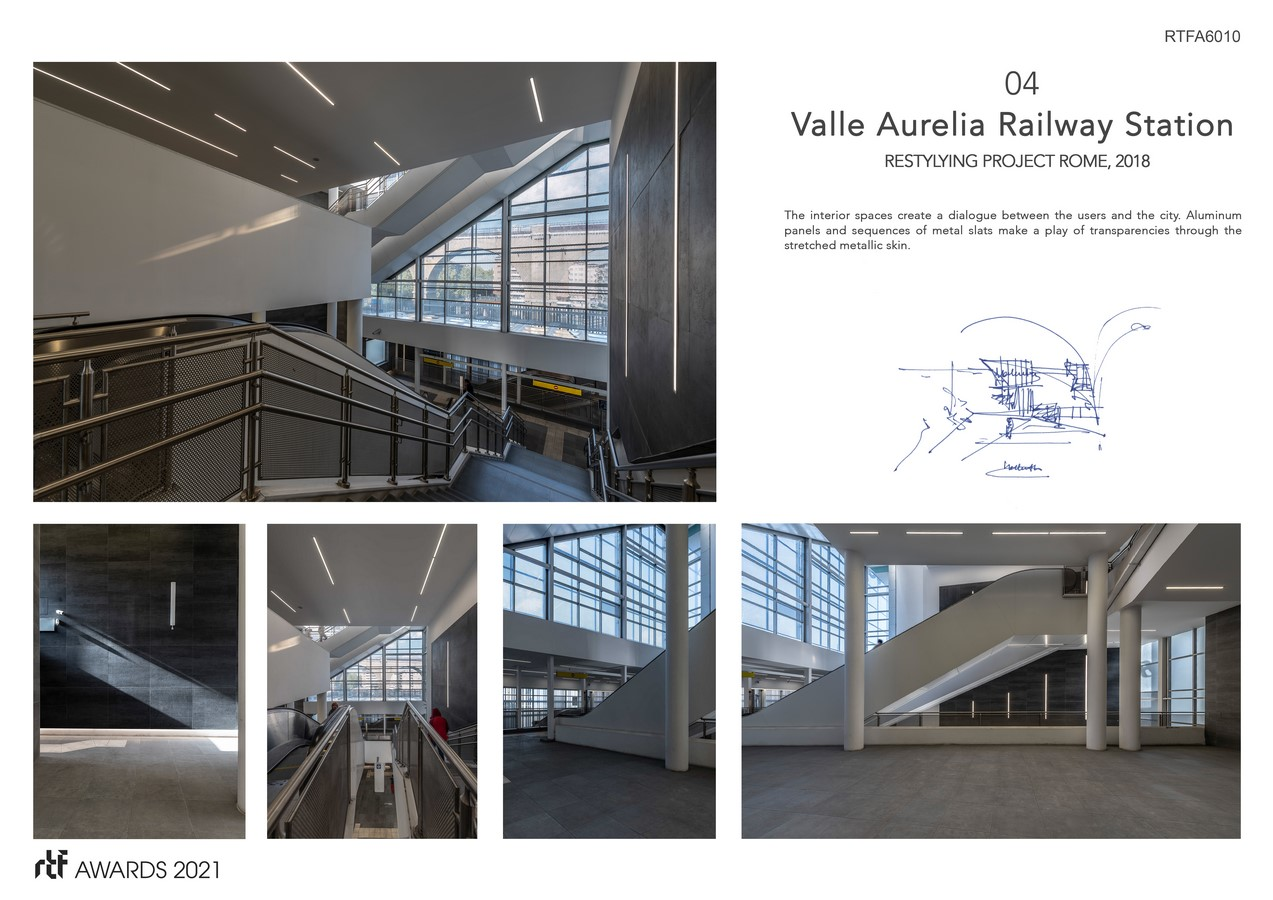 Valle Aurelia Restyling Station Project By Alessia Maggio (AMAART Architects) - Sheet5